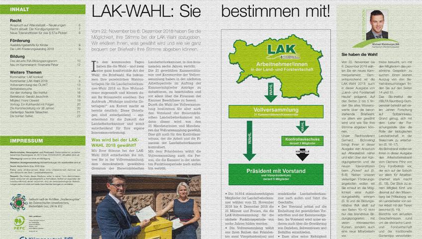 November-Ausgabe von Land- und Forstarbeit Heute